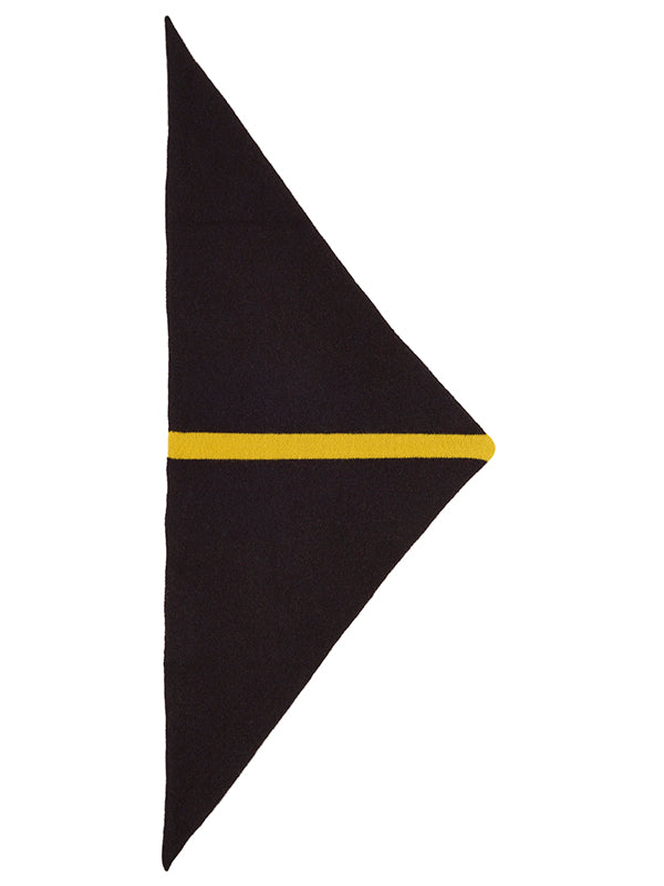 Single Stripe Triangle Neckerchief Black & Turmeric
