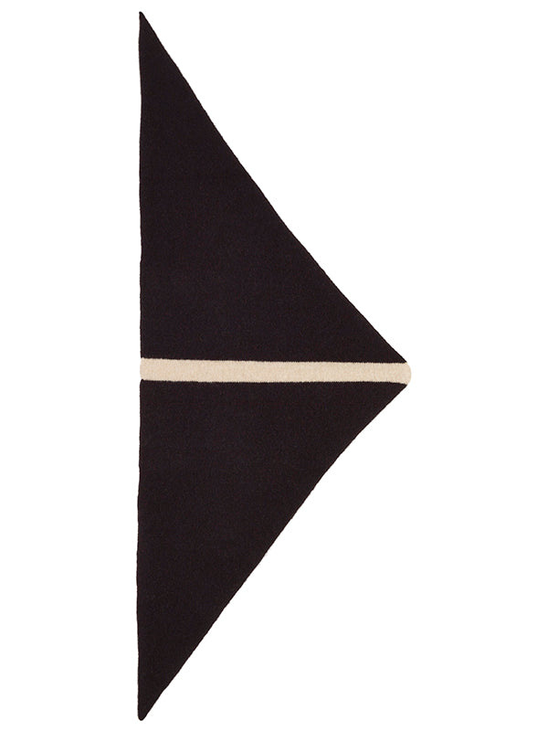 Single Stripe Triangle Neckerchief Black & Oatmeal