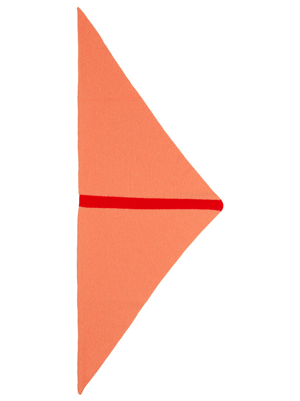 Single Stripe Triangle Neckerchief Turmeric & Scarlet