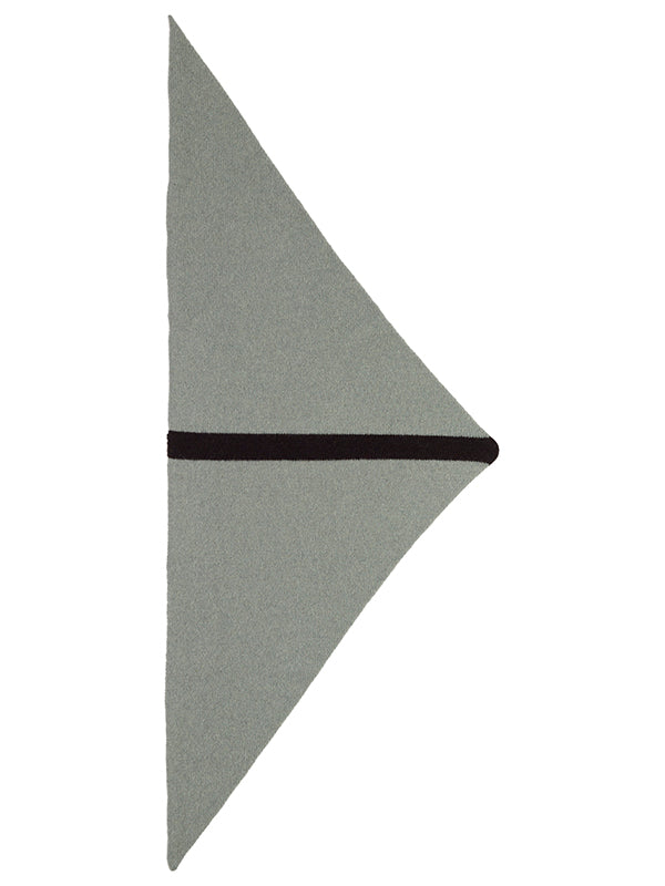 Single Stripe Triangle Neckerchief Kintyre & Black