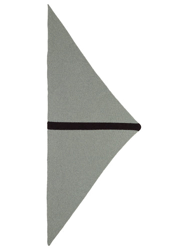 Single Stripe Triangle Neckerchief Kintyre & Black-Small Scarves & Neckerchiefs-Jo Gordon-Single Stripe Triangle Neckerchief Kintyre & Black-100% Lambswool-Neckerchief