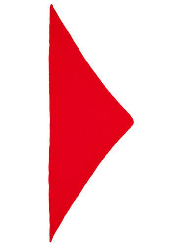 Plain Triangle Neckerchief Scarlet-Small Scarves & Neckerchiefs-Jo Gordon-Plain Triangle Neckerchief Scarlet-100% Lambswool-Neckerchief