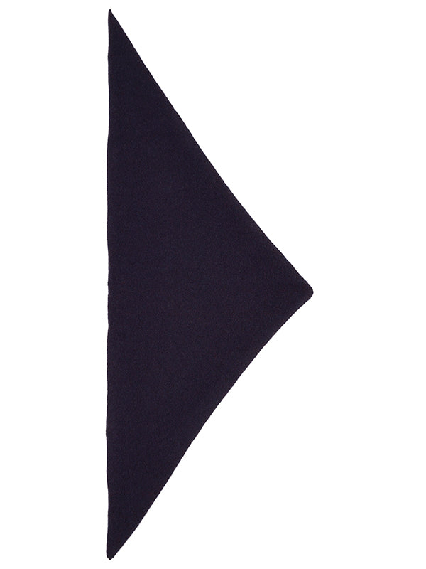 Plain Triangle Neckerchief Nero Navy