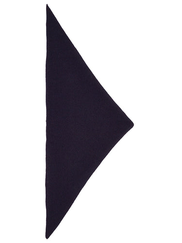 Plain Triangle Neckerchief Nero Navy-Small Scarves & Neckerchiefs-Jo Gordon-Plain Triangle Neckerchief Nero Navy-100% Lambswool-Neckerchief