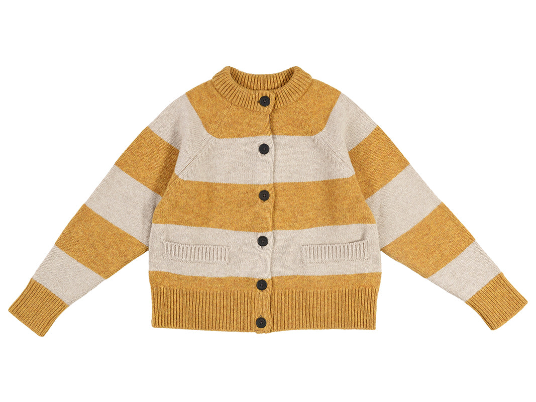 Stripe Cardigan Cumin & Putty