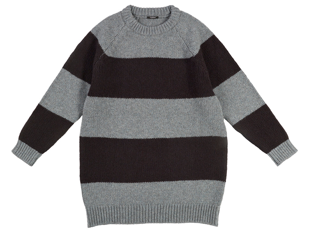 Oversize Stripe Jumper Graphite Green & Black