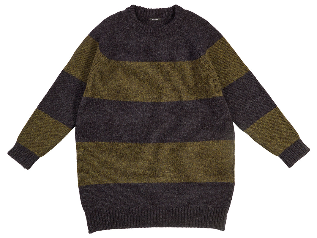 Oversize Stripe Jumper Charcoal & Pine Shadow