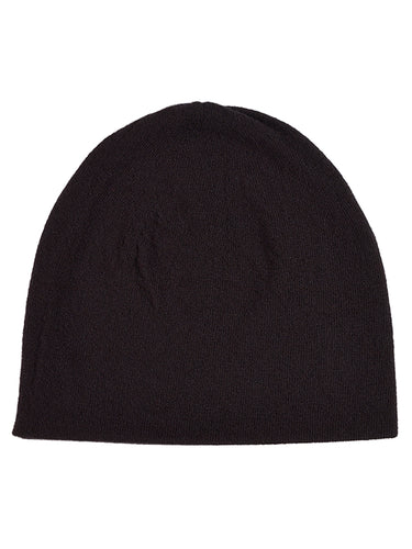 Fine Plain Hat Black