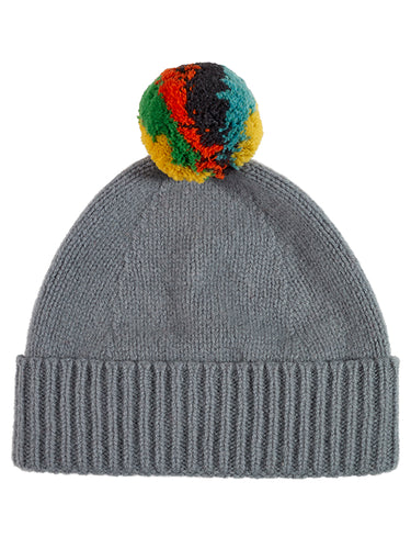 Shaggy Pompom Hat Purslane