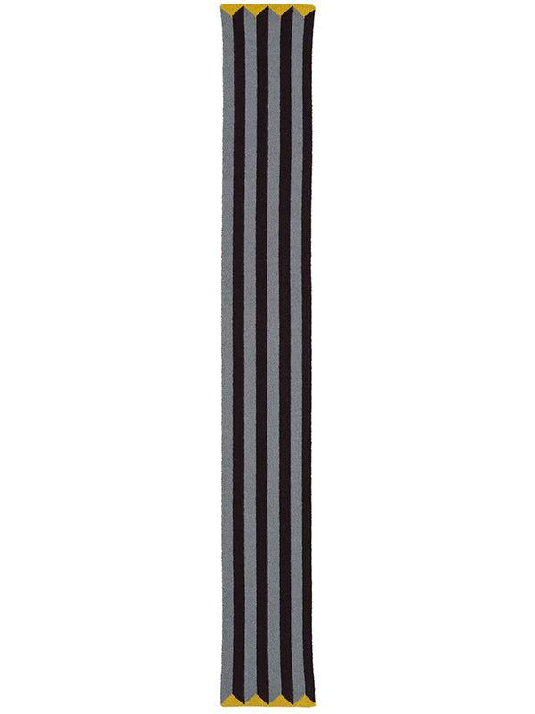 Small Vertical Stripe Scarf Black & purslane