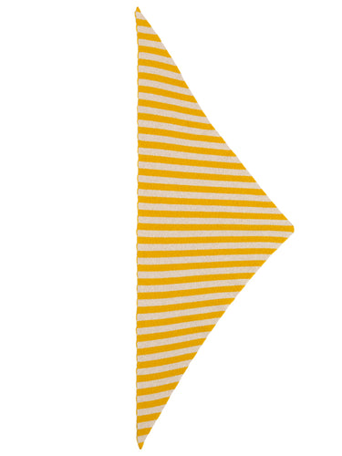Striped Triangle Neckerchief Golden Eye & oatmeal