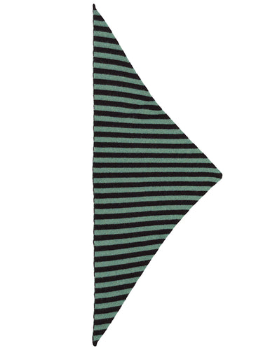 Striped Triangle Neckerchief Black & strath