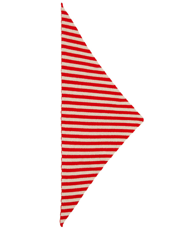 Striped Triangle Neckerchief poppy & Oatmeal