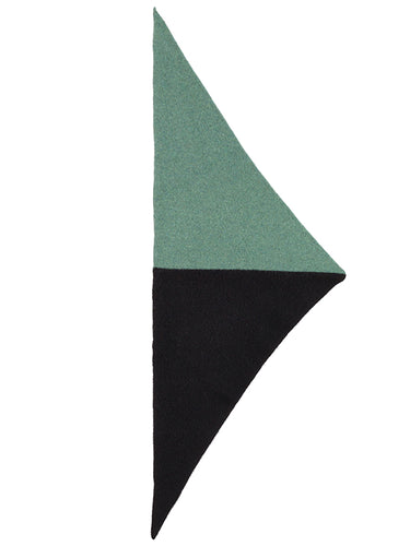 Half Half Triangle Neckerchief Black & Strath