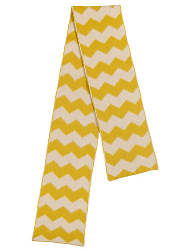 Brushed Zigzag Scarf Golden Eye & oatmeal