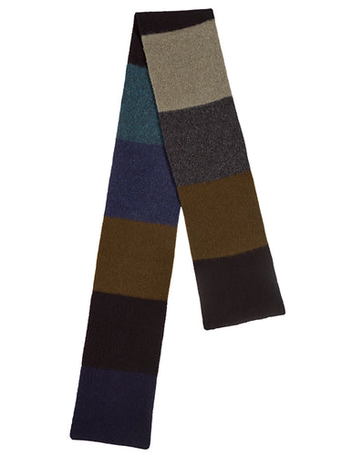 Brushed Colourblock Scarf Dark
