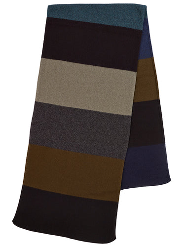 Colourblock Brushed Blanket Scarf Dark