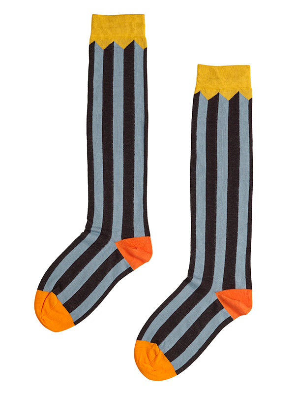 Vertical Stripe Knee Length Socks