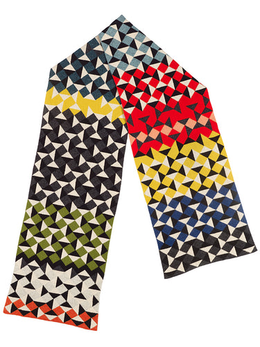 Multicolour Geometric Scarf 2017 Archive Collection