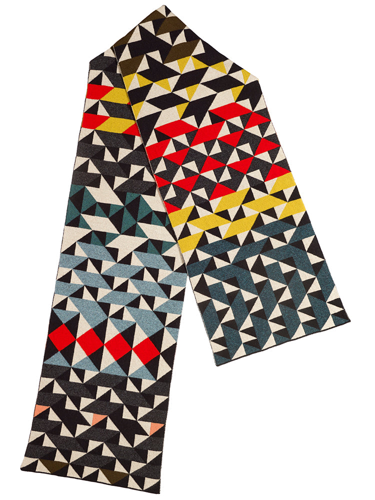 Multicolour Geometic Scarf 2018 Archive Collection
