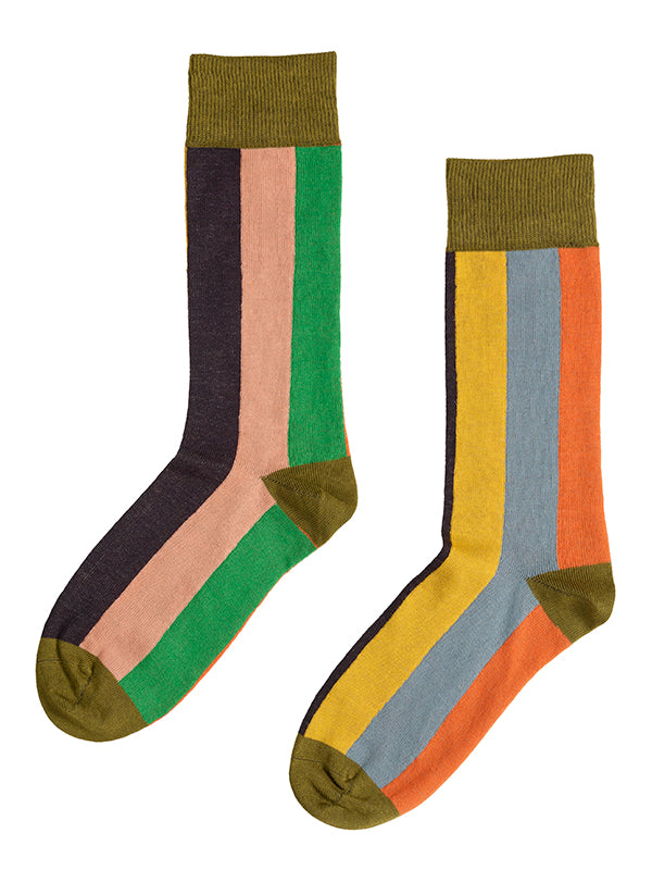 Multicolour Vertical Stripe Socks