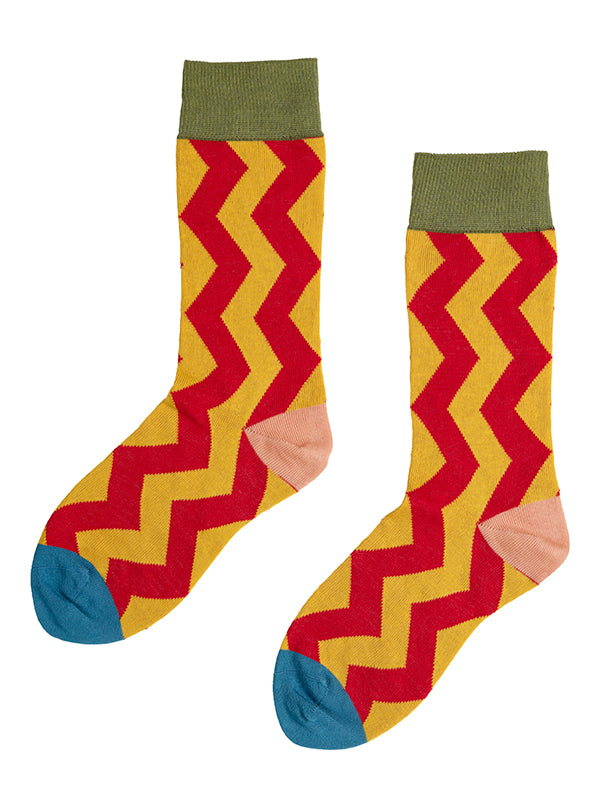 Vertical Zigzag Socks