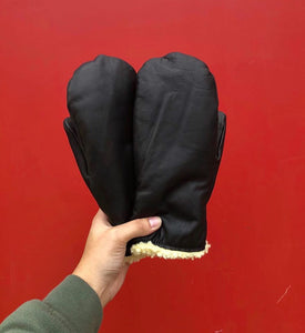 Klondike Sterling Leather Mittens, Black