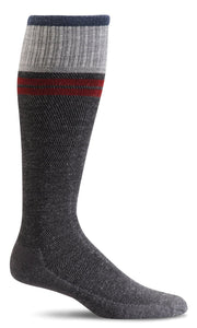 Men's Sportster Compression Sock, Charcoal 15-20 mmHG