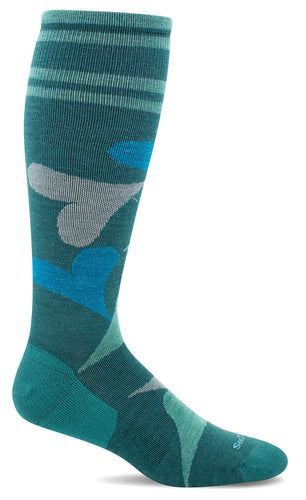 Women's Love Lots Compression Sock, Jade 15-20 mmHg