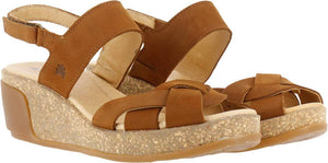 Leaves Platform Sandal, Wood N5008