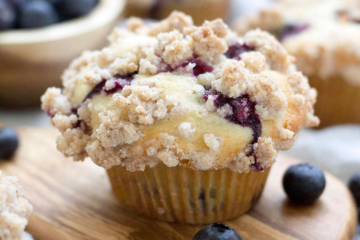 Maine Blueberry Muffins with Streusel Topping
