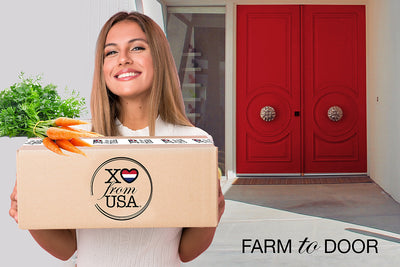 Shop farm to door red white blue