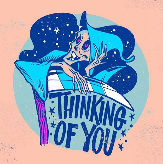 Thinking of you print