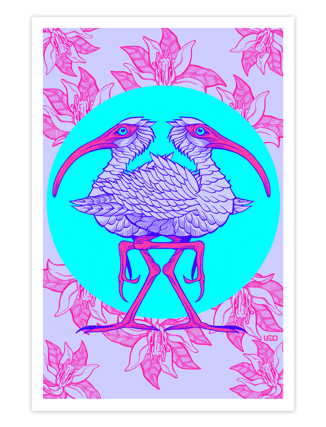 Eye of the Ibis Art Print