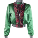 Satin and Velvet Bomber Jacket