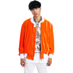 Burnt Orange Velvet Bomber