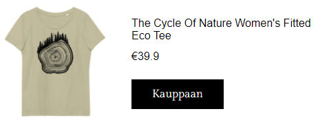 The Cycle Of Nature Women's Fitted Eco t-paita