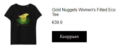 KUSEMA Gold Nuggets Women's Fitted Eco Tee