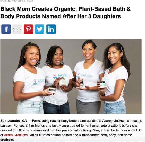 Black Mom Creates Organic, Plant-Based Bath & Body Products Named After Her 3 Daughters