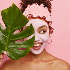 Picture of woman wearing clay mask