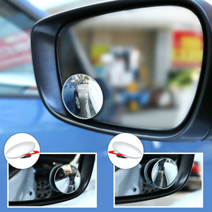 Blind Spot Convex Mirror 360º Rotatable For Car