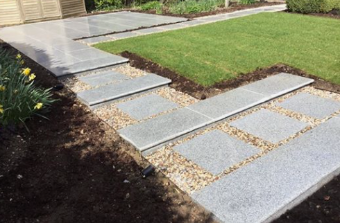 Recently completed garden in Long Bennington
