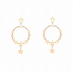 Women's Nightingale Hoop Earrings (Gold)