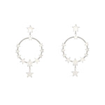 Women's Nightingale Hoop Earrings (Silver)