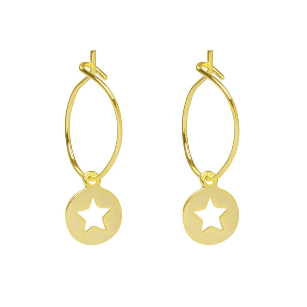 STAR CUT OUT Earrings - Earrings