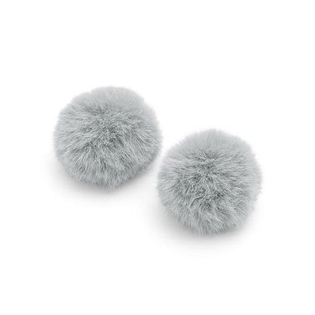 Pom Pom in Blue Grey Bauble