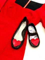 KAIA SHOE WITH HEART BAUBLES - MOONLIGHT