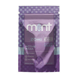 Mint Wellness CBD Active Mask 40mg (2 x 20mg)