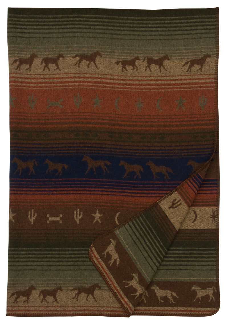 The Mustang Canyon Throw Blanket