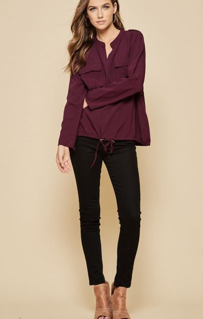 The Cabernet Blouse